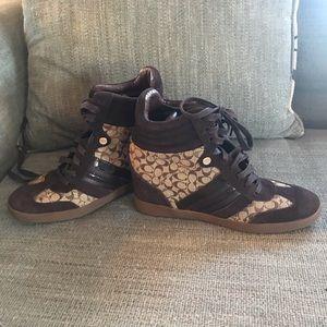 Coach Alara Hidden Wedge Hightop Sneakers
